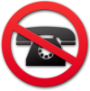 "image of a telephone behind a ""Don't"" symbol"