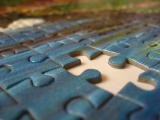 photo of a jigsaw puzzle with a piece missing