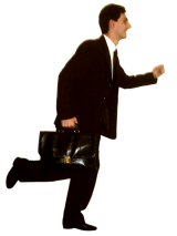 photo of a lawyer running
