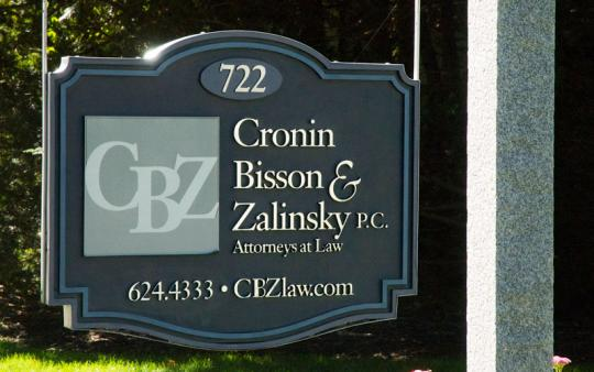 Cronin, Bisson & Zalinsky Law Offices sign
